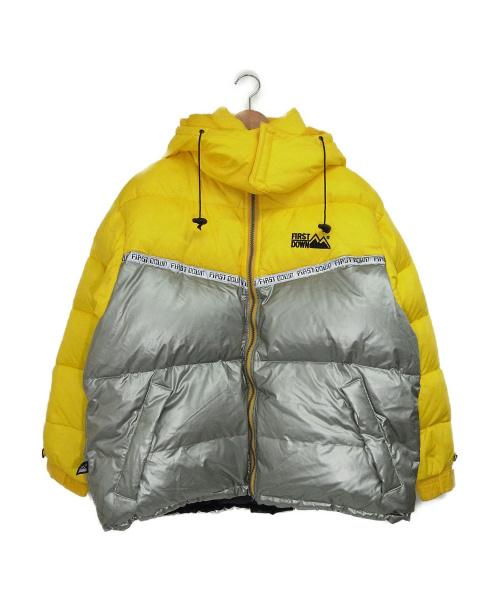 FIRST DOWN(ファーストダウン)FIRST DOWN (ファーストダウン) 90'sダウンジャケット イエロー×シルバー サイズ:XL 90年代の古着・服飾アイテム