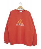 adidas(アディダス)の古着「[古着]90'sロゴスウェット」|レッド