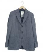 BEAMS HEART(ビームスハート)の古着「ヘリンボーン3Bジャケット」|ブルー