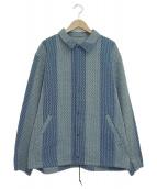 KUON(クオン)の古着「刺し子コーチジャケット」|ブルー