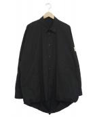 Essay(エッセイ)の古着「オーバーサイズバルーンシャツ」|ブラック