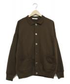 YASHIKI(ヤシキ)の古着「オボロカラーカーディガン」|ベージュ