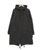 nano・universe(ナノユニバース)の古着「フーデッドコート」 ブラック