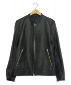 LIDnM(リドム)の古着「シープスキンシングルライダースジャケット」 ブラック