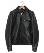 VANSON(バンソン)の古着「ENFライダースジャケット」|ブラック