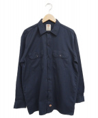 Dickies(ディッキーズ)の古着「[古着]ワークシャツ」|ネイビー