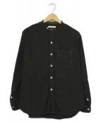 OLD JOE & Co.(オールドジョー)の古着「スタッドバンドカラーシャツ」|ブラック