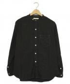 OLD JOE & Co.(オールドアンドジョー)の古着「スタッドバンドカラーシャツ」|ブラック