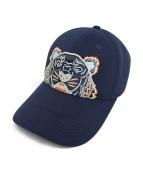 KENZO(ケンゾー)の古着「タイガー刺繍キャップ」|ネイビー