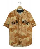X-LARGE(エクストララージ)の古着「ベースボールシャツ」|ブラウン