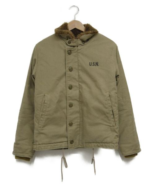 YMCLKY(ワイエムシーエルケーワイ)YMCLKY (ワイエムシーエルケーワイ) N-1デッキジャケット カーキ サイズ:32 TALONジップ使用の古着・服飾アイテム