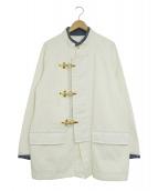 UNITED ARROWS & SONS(ユナイテッドアローズアンドサンズ)の古着「ファーヤーマンカバーオール」 ホワイト