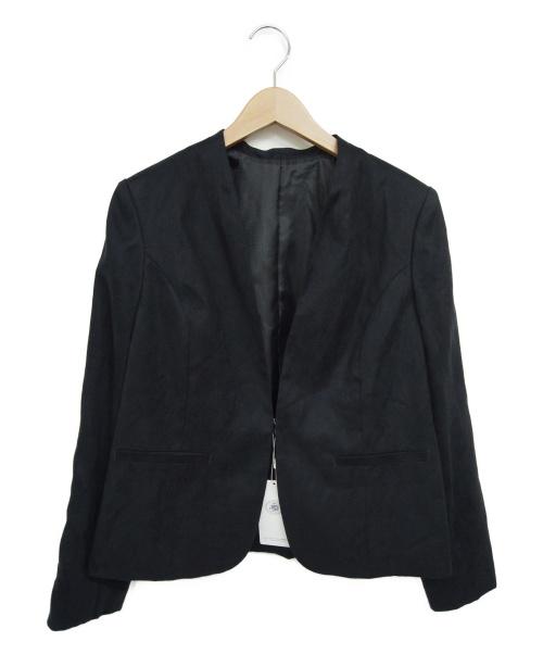J.PRESS(ジェイプレス)J.PRESS (ジェイプレス) ノーカラージャケット ネイビー サイズ:T13 参考定価35,000円+税の古着・服飾アイテム