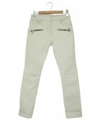 BALMAIN(バルマン)の古着「ホワイトデニムパンツ」|ホワイト
