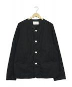 Vincent et Mireille(ヴァンソンエミレイユ)の古着「ノーカラーカバーオール」|ブラック