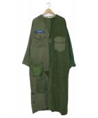 Bonum(ボナム)の古着「リメイクミリタリーコート」 オリーブ