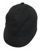 B Yohji Yamamoto(ビーヨウジヤマモト)の古着「ショートブリムキャップ」|ブラック
