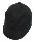 B Yohji Yamamoto(ビーヨウジヤマモト)の古着「ショートブリムキャップ」 ブラック