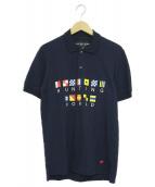 HUNTING WORLD(ハンティングワールド)の古着「半袖ポロシャツ」|ネイビー