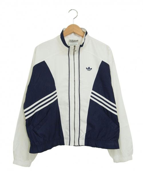 adidas(アディダス)adidas (アディダス) [古着]80'sジップジャケット ホワイト×ネイビー サイズ:M 80年代の古着・服飾アイテム