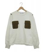 COMME des GARCONS SHIRT(コムデギャルソンシャツ)の古着「裏起毛ポケットデザインスウェット」 ホワイト