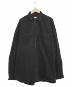 MAISON SPECIAL(メゾンスペシャル)の古着「10オンスデニムオーバーサイズシャツ」 グレー