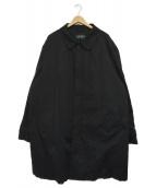 LAUREN RALPH LAUREN(ローレンラルフローレン)の古着「ステンカラーコート」|ブラック