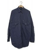 VERSACE(ヴェルサーチェ)の古着「メデューサリネン混ビッグシルエットシャツ」|ネイビー