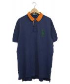 POLO RALPH LAUREN(ポロラルフローレン)の古着「ポロシャツ」 ネイビー