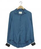NEON SIGN()の古着「オープンカラーシャツ」 ブルー