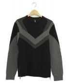 NEIL BARRETT(ニールバレット)の古着「ボンディングスウェット」|ブラック×グレー