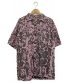 GOLD(ゴールド)の古着「半袖オープンシャツ」 ピンク