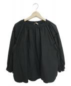 GRANDMA MAMA DAUGHTER(グランマママドーター)の古着「ギャザーブラウス」|ブラック