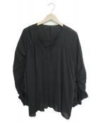 FRAMeWORK(フレームワーク)の古着「ギャザーブラウス」|ブラック