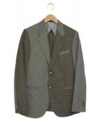 BEAUTY&YOUTH(ビューティーアンドユース)の古着「クレイジーパターン2Bジャケット」|ブラウン