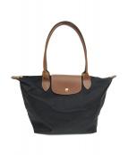 LONGCHAMP(ロンシャン)の古着「折り畳みナイロントートバッグ」|ブラック
