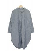 Plage(プラージュ)の古着「シャツワンピース」 ブルー×ホワイト