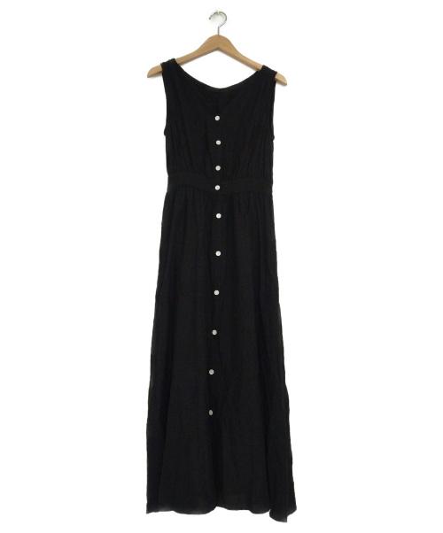 SLOBE IENA(スローブ イエナ)SLOBE IENA (イエナスローブ) フロントボタンノースリーブワンピース ブラック サイズ:下記参照の古着・服飾アイテム