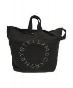 STELLA McCARTNEY(ステラマッカートニー)の古着「ロゴプリントキャンバストートバッグ」|ブラック