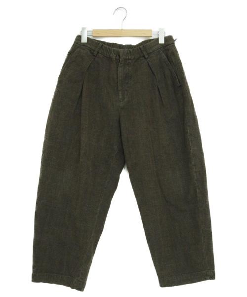 COLINA(コリーナ)COLINA (コリーナ) ダブルタックパンツ カーキ サイズ:L  Hund spun W-tuck Pants 181PT09の古着・服飾アイテム