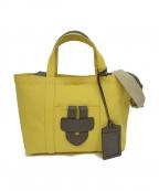 TILA MARCH(ティラマーチ)の古着「キャンバストートバッグ」 イエロー