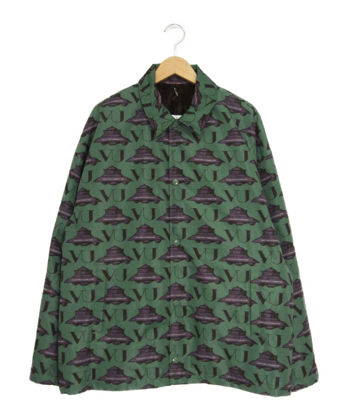 UNDERCOVER(アンダーカバー)UNDERCOVER (アンダーカバー) UFOフリースラインドジャケット グリーン×パープル サイズ:4 UCX4204-2の古着・服飾アイテム