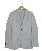 ROBERTO P(ロベルトペペ)の古着「シアサッカージャケット」 ブルー×ホワイト