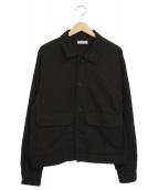 LIDnM(リドム)の古着「ガーメントダイカバーオール」|ブラック