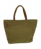 IL BISONTE(イルビゾンテ)の古着「キャンバスハンドバッグ」|オリーブ