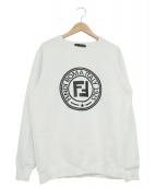 FENDI(フェンディ)の古着「クルーネックスウェット」|ホワイト