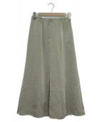 green label relaxing(グリーンレーベルリラクシング)の古着「サテンマーメイドスカート」|シルバー