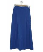 icB(アイシービー)の古着「タフタマキシスカート」|ブルー