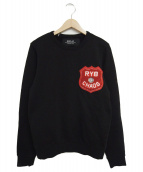 REPLAY(リプレイ)の古着「ワッペン付きスウェット」|ブラック