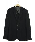 BOSS HUGO BOSS(ボスヒューゴボス)の古着「カシミヤ混テーラードジャケット」|ブラック